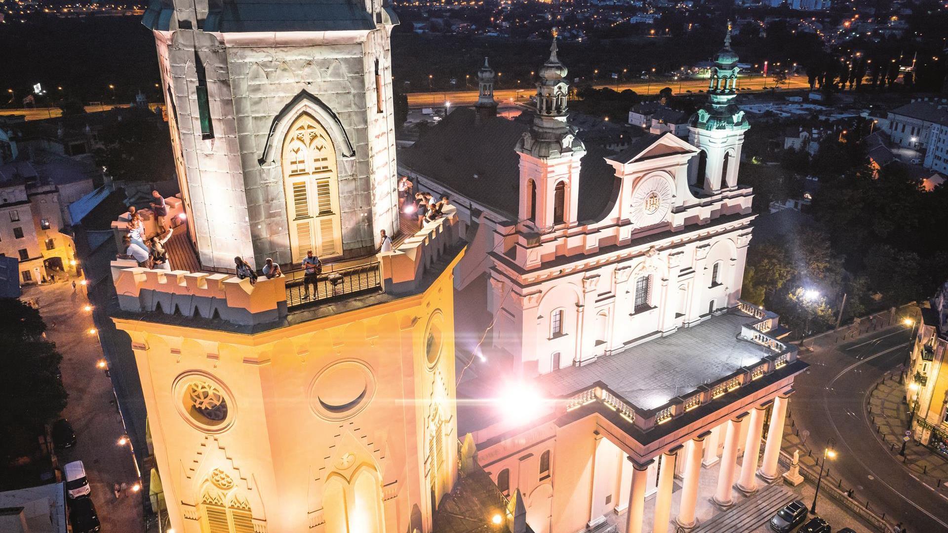 Wieża Trynitarska oraz Archikatedra widziane z góry