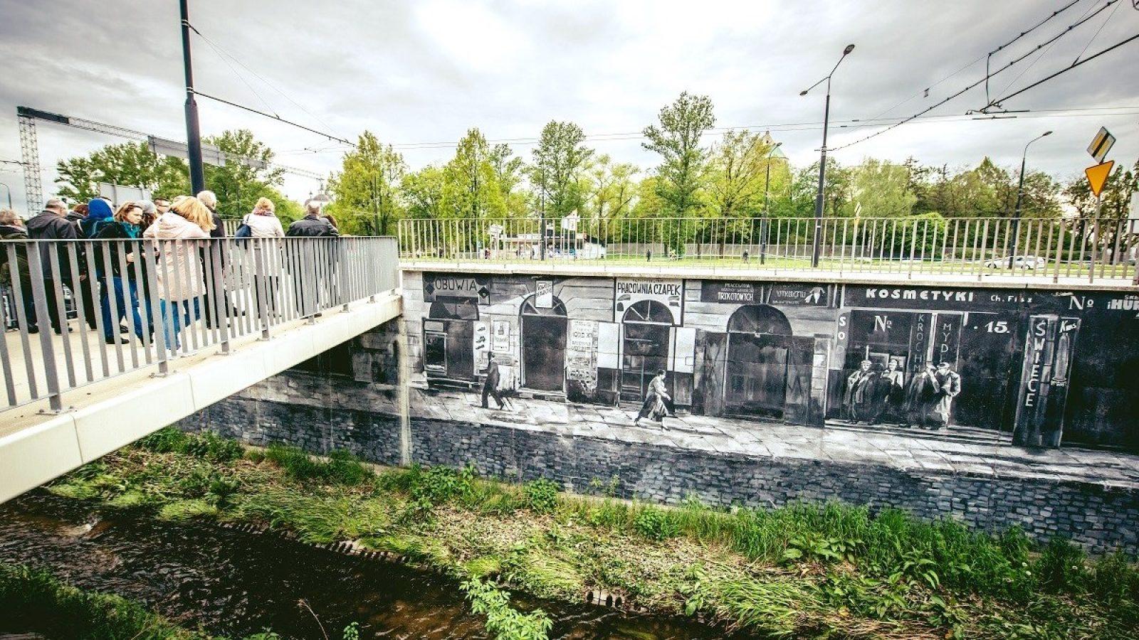 Mural Dzielnica Żydowska przy al. Unii Lubelskiej