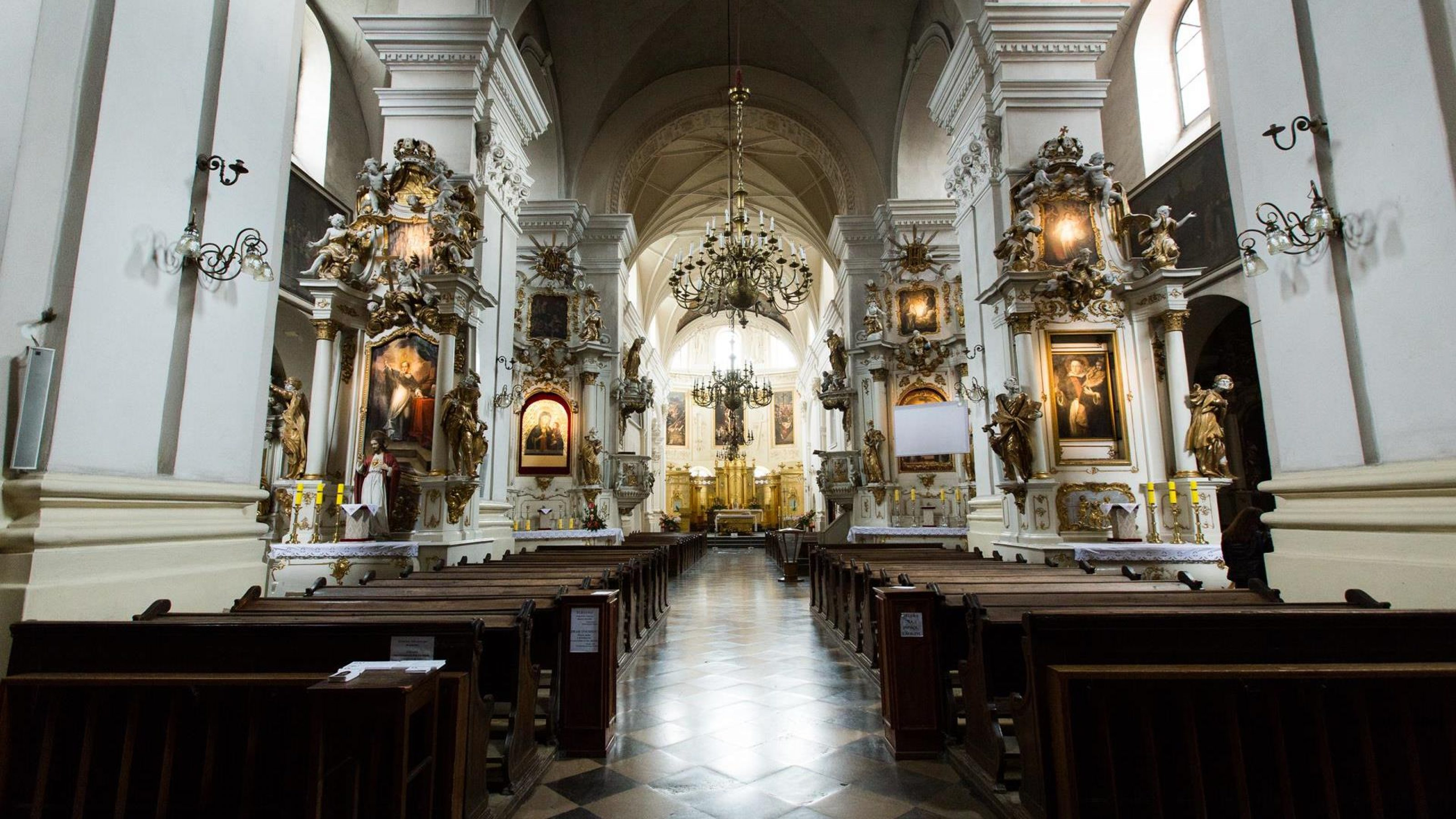 Wnętrze bazyliki dominikańskiej