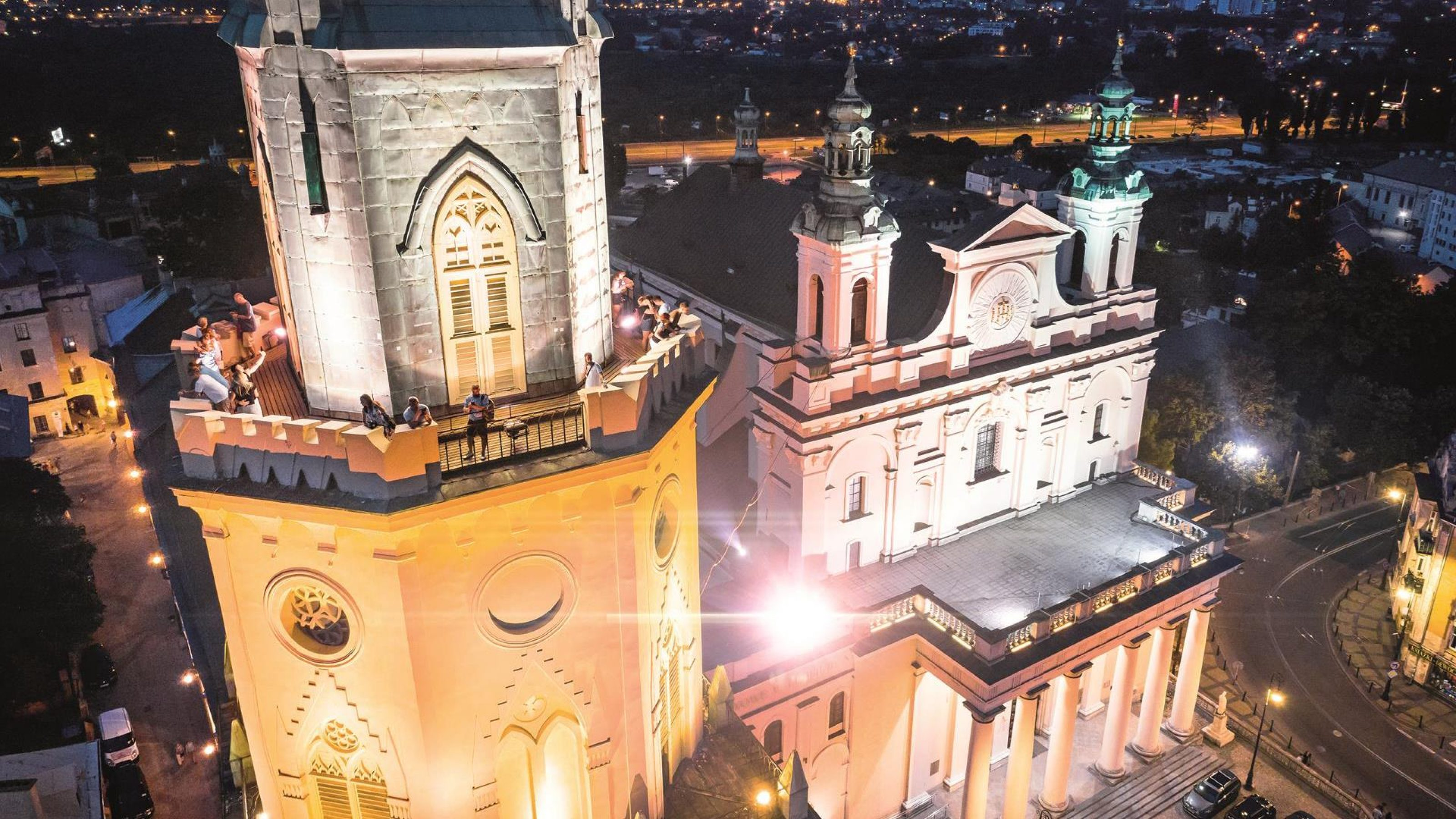 The Trinitarian Tower and the Archcathedral seen from above
